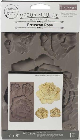 "Prima Marketing Re-Design Mould 5""X8""X8mm Etruscan Rose"