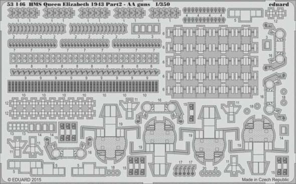 1/350 Ship- HMS Queen Elizabeth 1943 Pt.2 AA Guns for TSM
