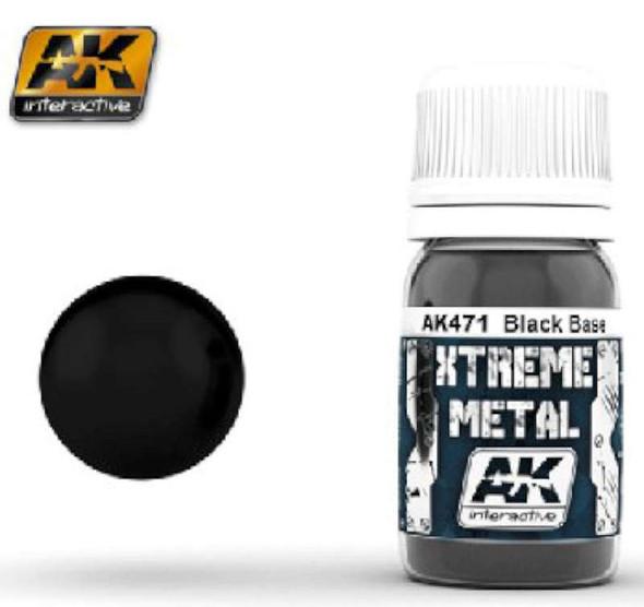 AK Interactive Xtreme Metal Satin Black Base -- Hobby and Model