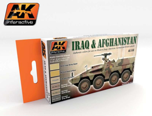 AK Interactive Iraq & Afghanistan Acrylic Paint -- Hobby and