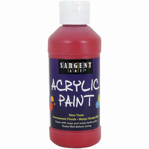 Acrylic Paint 8oz Red