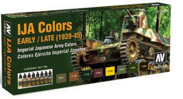 Vallejo 1937-1945 IJA Colors Early/Late