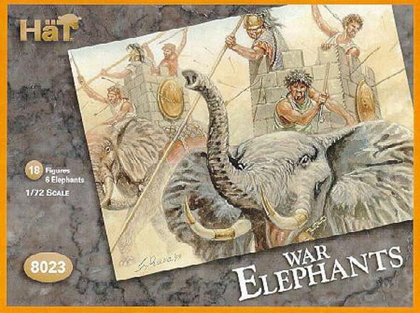 Hat Industries Figures Carthaginian War Elephants -- 1/72 Scale