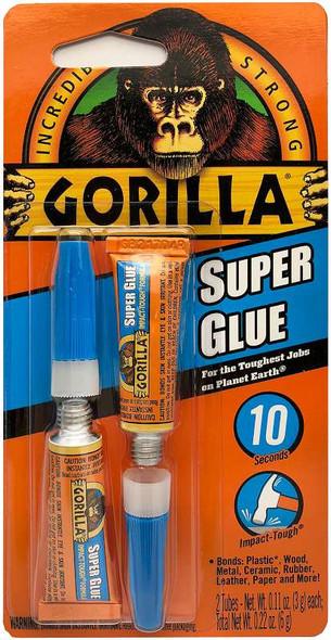 Gorilla Super Glue Twin Pack 3g
