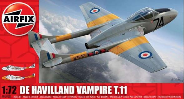 Airfix A2058 De Havilland Vampire T.11 1:72 Kit