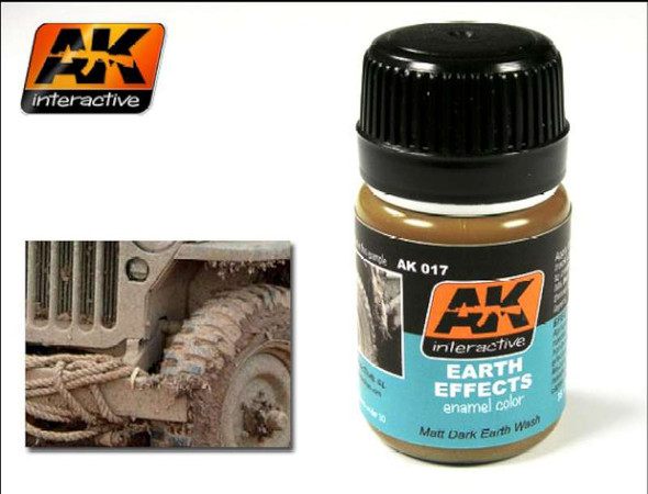 AK Interactive Earth Effects Enamel Paint 35ml Bottle -- Hobby and