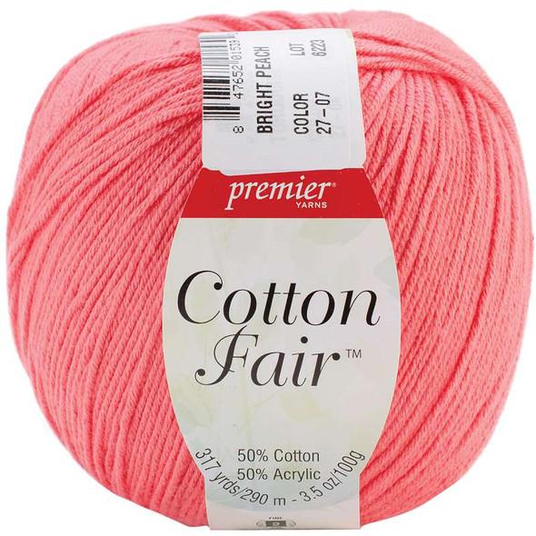 Cotton Fair Solid Yarn Bright Peach