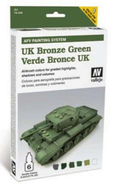 Vallejo Model Air Set: AFV System UK Bronze Green