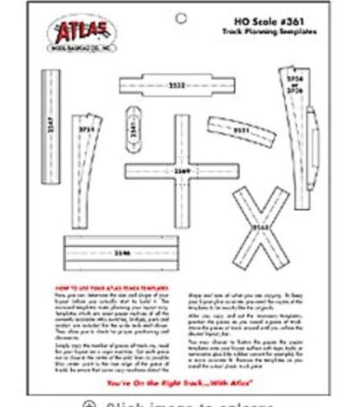 Atlas Model 361 Scale Track Template Kit HO