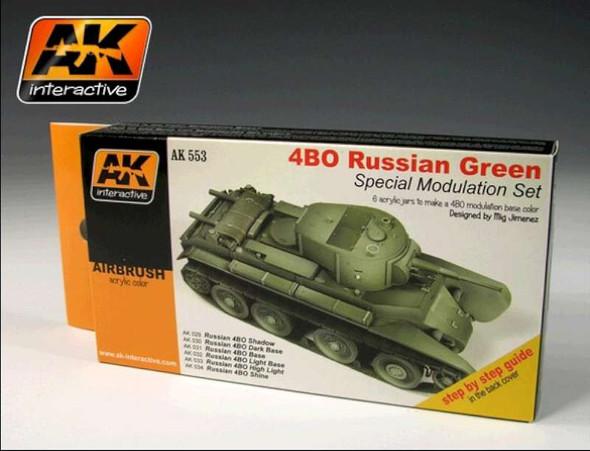 AK Interactive Russian 4BO Green Modulation Acrylic Paint -- Hobby