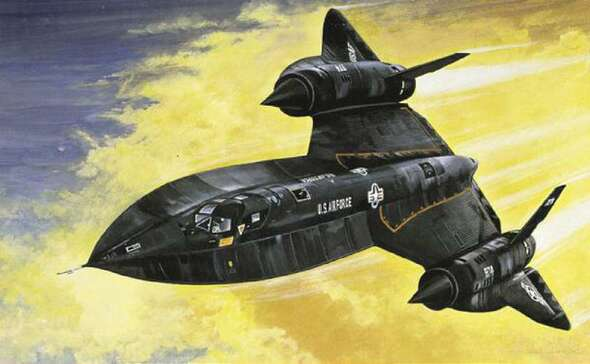 SR-71 Blackbird W/Drone, 1/72 by Italeri, Model Airplane