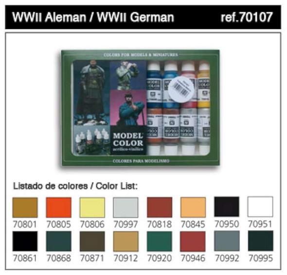 Val Vallejo Model Colors Paint Set: WWII German (16)