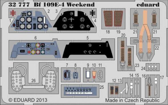 BF 109E-4 Weekend Eduard - 1:32 -Eduard
