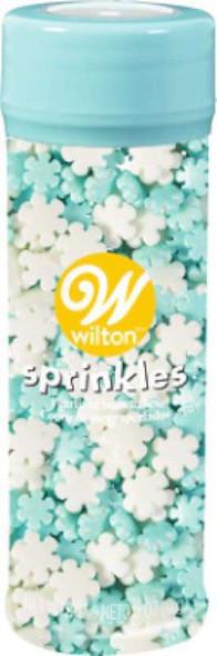 Sprinkles Mix Christmas Pearlized Snowflakes
