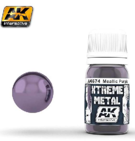 AK Interactive Xtreme Metal Purple Metallic Paint 30ml Bottle --