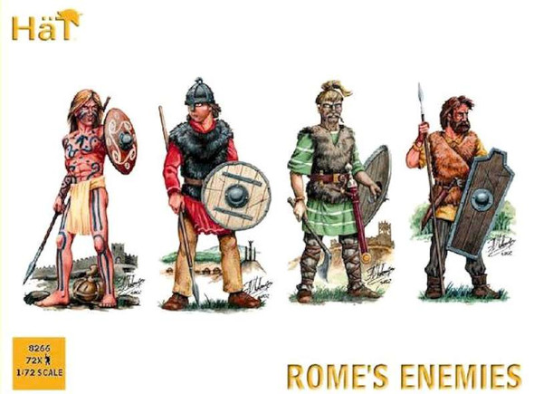 Model Figures - Romes Enemies. Picts, Saxons, Franks and Visigoths- 1: