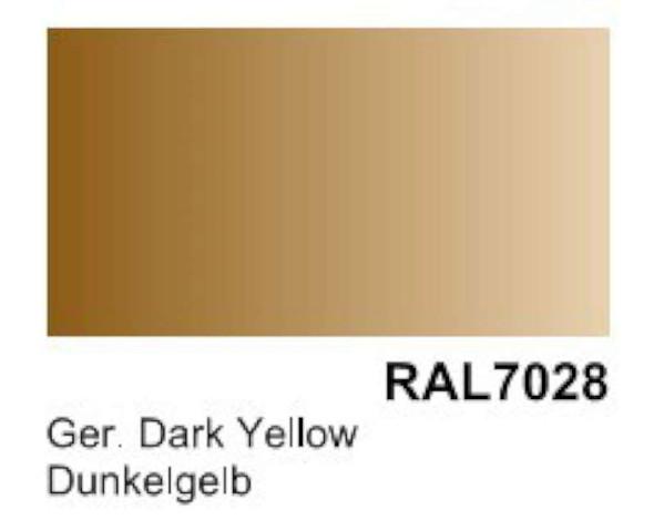 Vallejo Acrylic Paints German Dark Yellow RAL 7028 Primer (200mL 74604