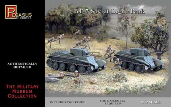Pegasus Hobbies 1/72 BT-7 Light Tanks (2) 7673