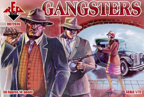 Model Figures - American Gangsters- 1:72 -Red Box
