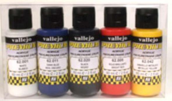 Vallejo Acrylic Paints 60ml Bottle Metallic Premium Paint Set (5