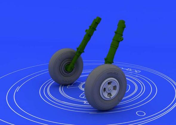 1/48 Scale Spitfire Wheels - 4 Spoke (Eduard)