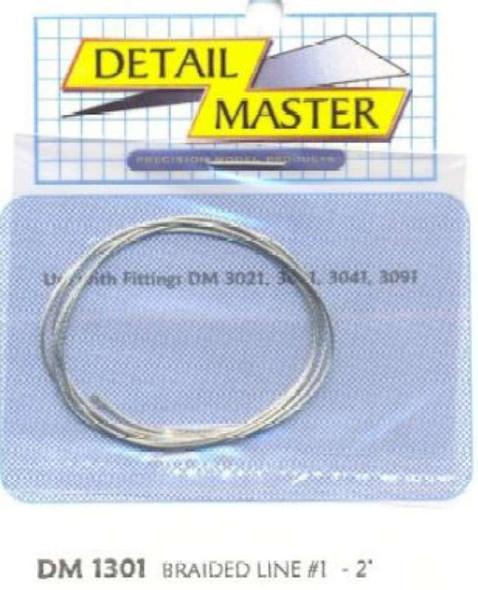"2ft. Braided Line #1 (.020"") Detail Master"