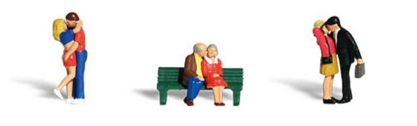 Woodland Scenics A1833 Lovers - HO Scale People (Suit Hornby OO Sets)
