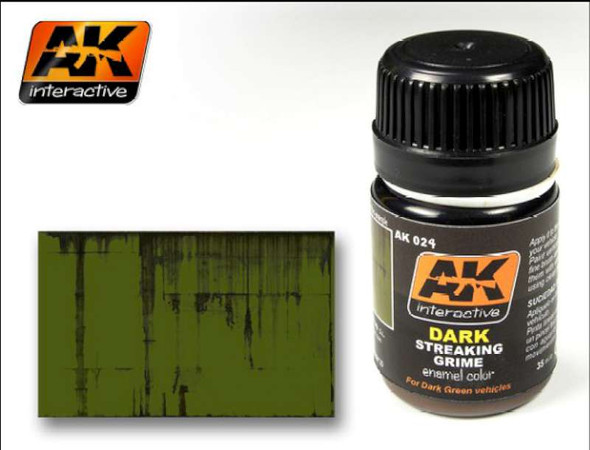 AK Interactive AK00024 Dark Streaking Grime 35ml