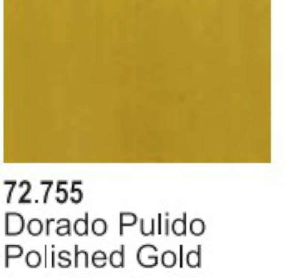 VAL72755 Polished Gold Acrylic Paint 17ml Bottle Game Air Vallejo