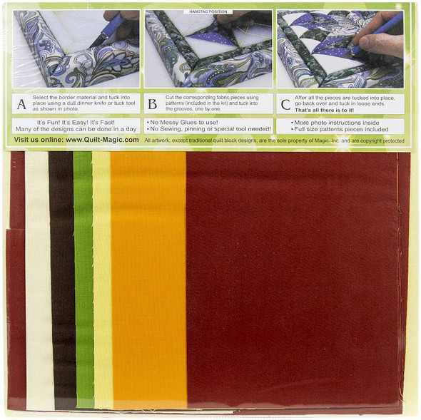 Quilt-Magic No Sew Wall Hanging Kit Dresden