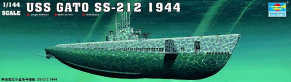 USS Gato SS-212 1944, 1/144 by Trumpeter, Model Ship