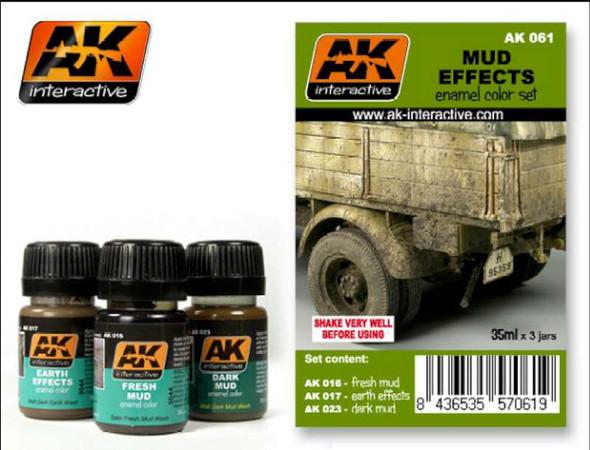AK Interactive Mud Effects Set #AK061