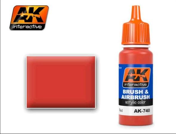 Red Acrylic Paint 17ml Bottle