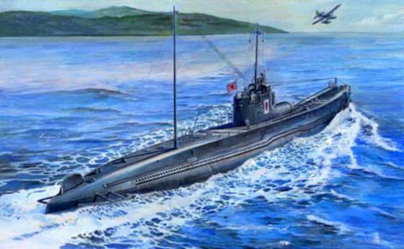 AFV Club IJN I58 Submarine -- Plastic Model Submarine Kit -- 1/350