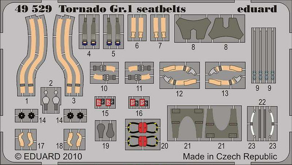 Panavia Tornado GR.1 Seatbelts (designed to Be Used with