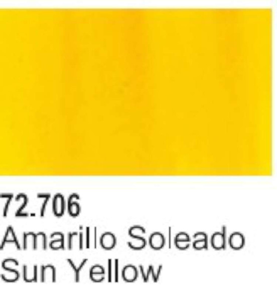 VAL72706 Sun Yellow Acrylic Paint 17ml Bottle Game Air Vallejo
