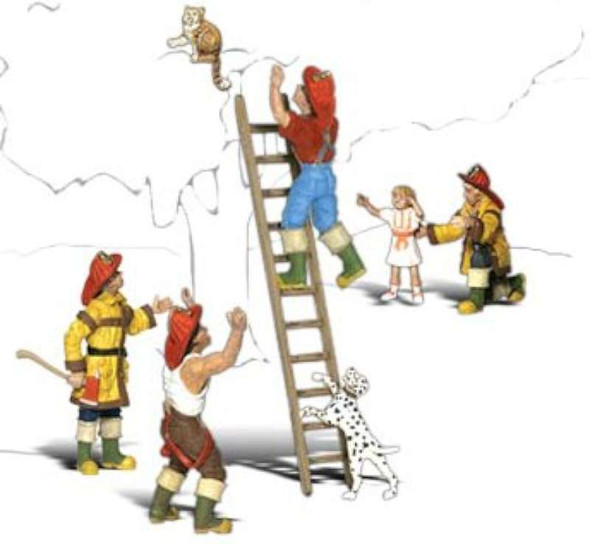 Firemen to The Rescue (HO Scale)