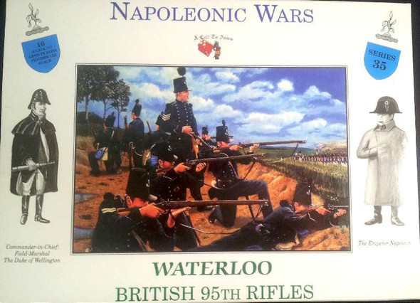 Model Figures - 95th British Rifles Waterloo- 1:32 -A Call to Arms