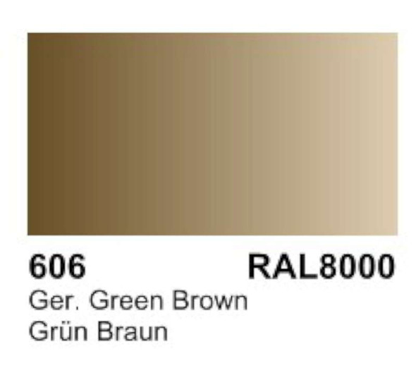 Vallejo Acrylic Paint, Ger. Green Brown VAL70606