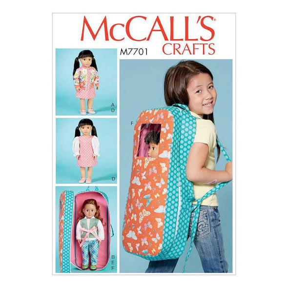 18 Doll Clothes and Doll Carrier-One Size