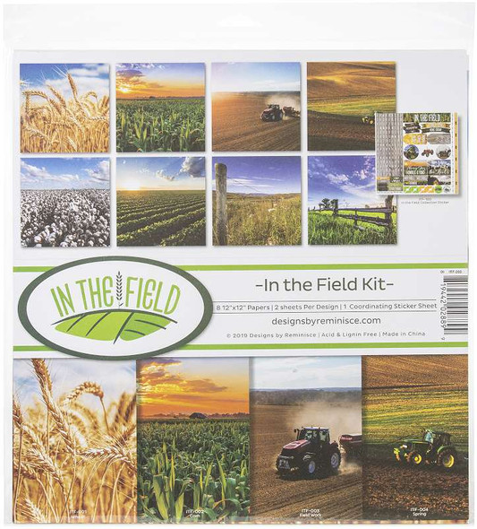 """Reminisce Collection Kit 12""""X12"""" In The Field"""