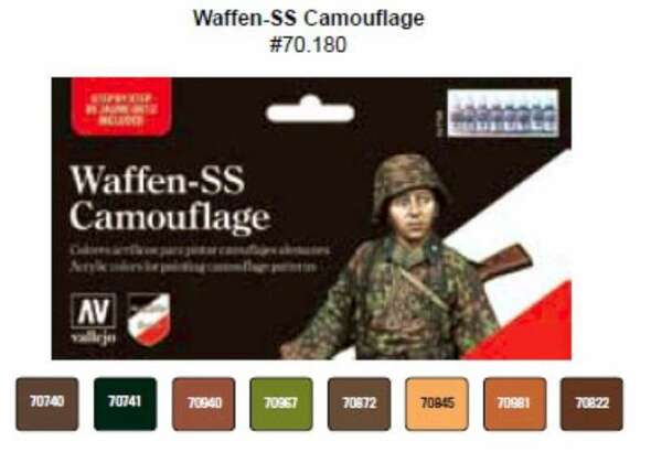 Waffen SS Camouflage Model Color Paint, 17ml by Vallejo, Model Paint