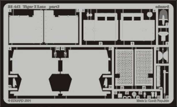 Eduard Models Armor- Tiger I Late -- Plastic Model Vehicle Accessory