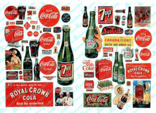 JL Innovative Design Vintage Soft Drink Posters & Signs -- Model 697
