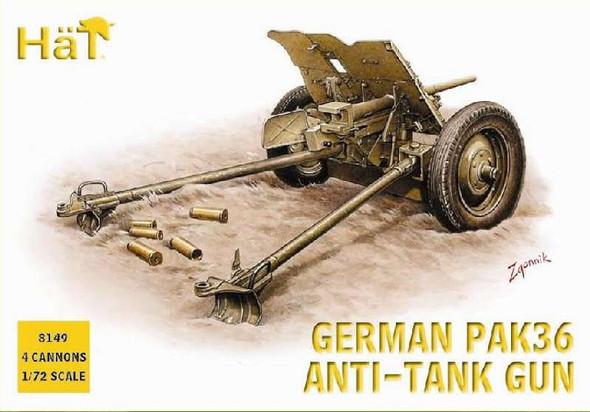 Hat German PaK36 Anti-Tank Gun - 1:72 Plastic Model Kit