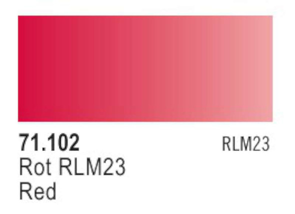 Red RLM23, 17ml by Vallejo, Model Paint