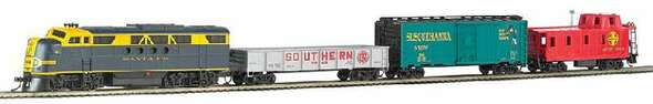 Bachmann Trains Blue Lightning E-Z App Control Electric Train Set, HO Scale 1501-BT