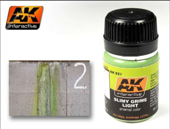 AK Interactive Slimy Grime Light Enamel Paint 35ml Bottle -- Hobby
