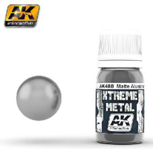 AK Interactive Xtreme Metal Matte Aluminum (30ml) -- Hobby and Model