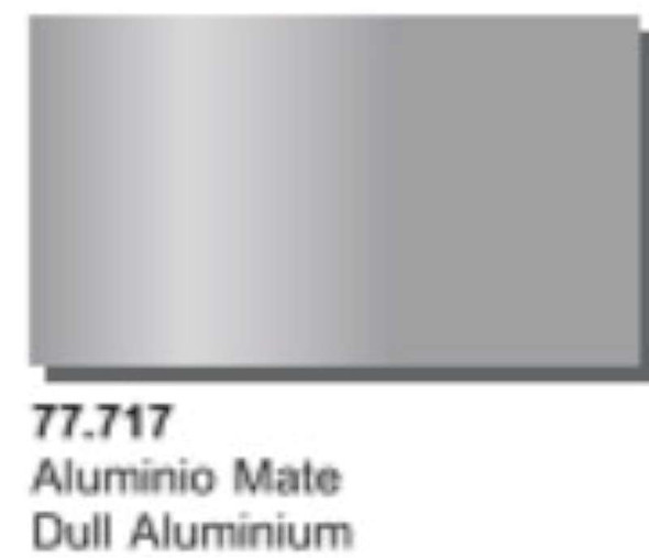 Vallejo Acrylics Metal Color - Dull Aluminium 32ml